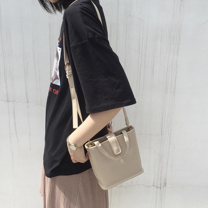2019夏季新款韓國ins款簡約小清新百搭小包包手提包單肩斜挎女包