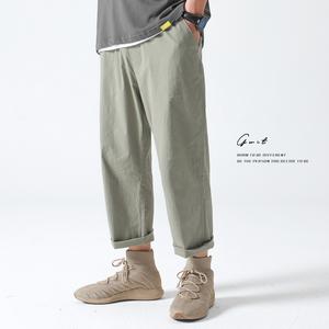 gwit高捻天山棉冰凉夏季新款九分裤