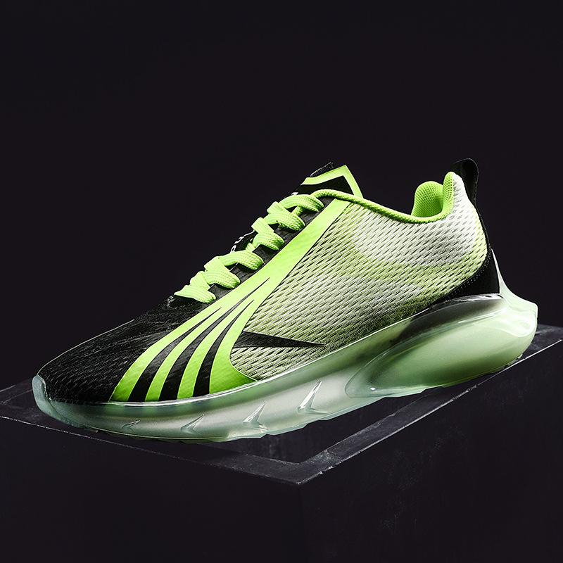 男式飞织跑步鞋潮鞋春低帮网布面时尚慢跑休闲运动鞋大码跨境