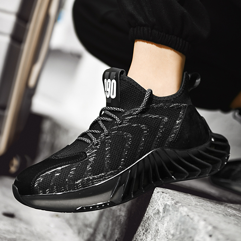 A55 mens blade bottom sneakers spring low top flying woven mesh surface luminous fashion casual running shoes youth