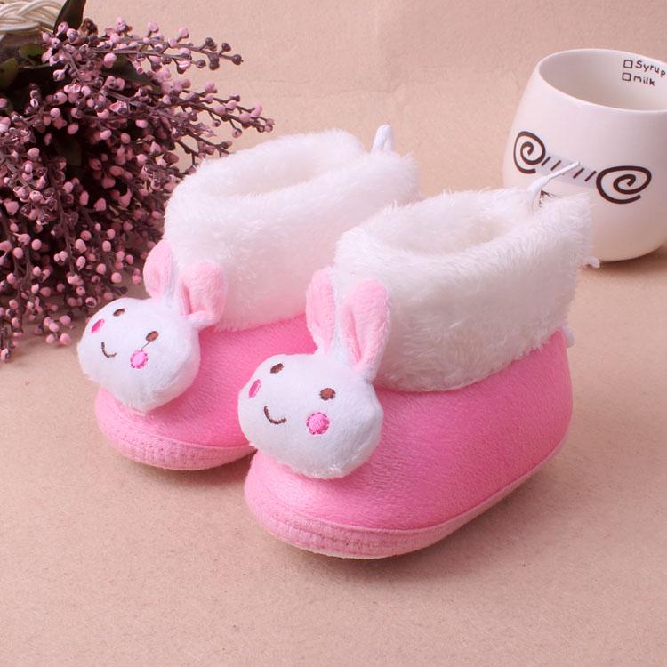 0-6-12个月学步鞋加厚保暖男女宝宝1岁春秋冬季婴儿鞋子软底棉鞋