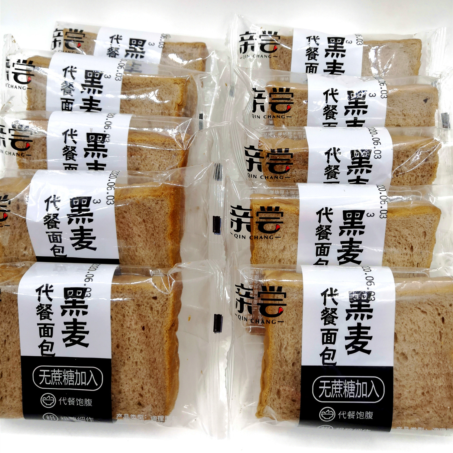 网红亲尝无添加0蔗糖黑麦全片面包