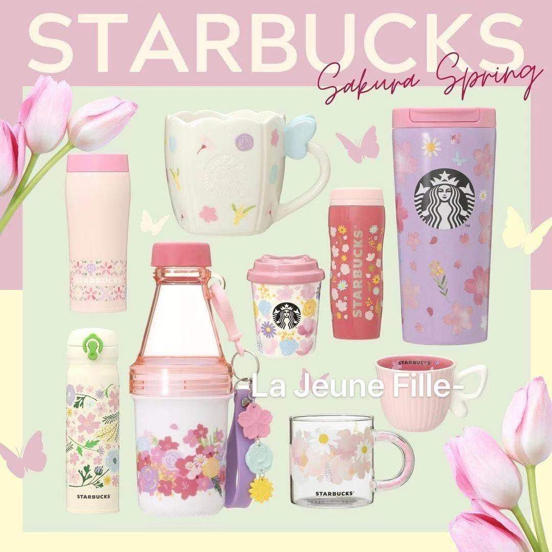 Japan buys Starbucks 2021 new cherry blossom limited thermos cup