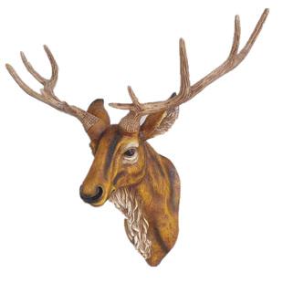 北歐客廳家居裝飾品創意招財鹿頭壁掛輕奢電視牆沙發背景牆面掛件