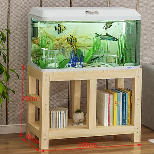 魚缸架子底座水族箱底櫃櫃子桌子缸架植物架定做實木加厚