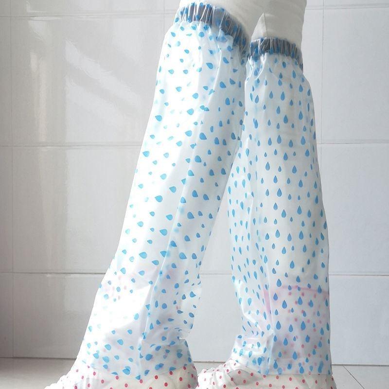 Rain pants cover leg rain pants lower body one-piece waterproof and antifouling sleeve PVC pants leg cover mens and womens adult rain clothes pants cover