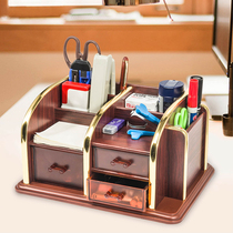 Wooden Multifunctional pen cartridge creative fashion remote control storage box small bucket men and women simple Desk Decoration