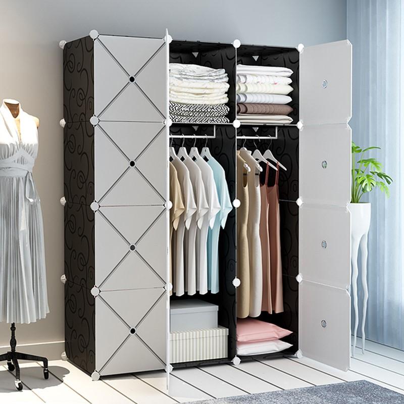 简易塑料布艺单人出租房卧室布衣橱限7000张券