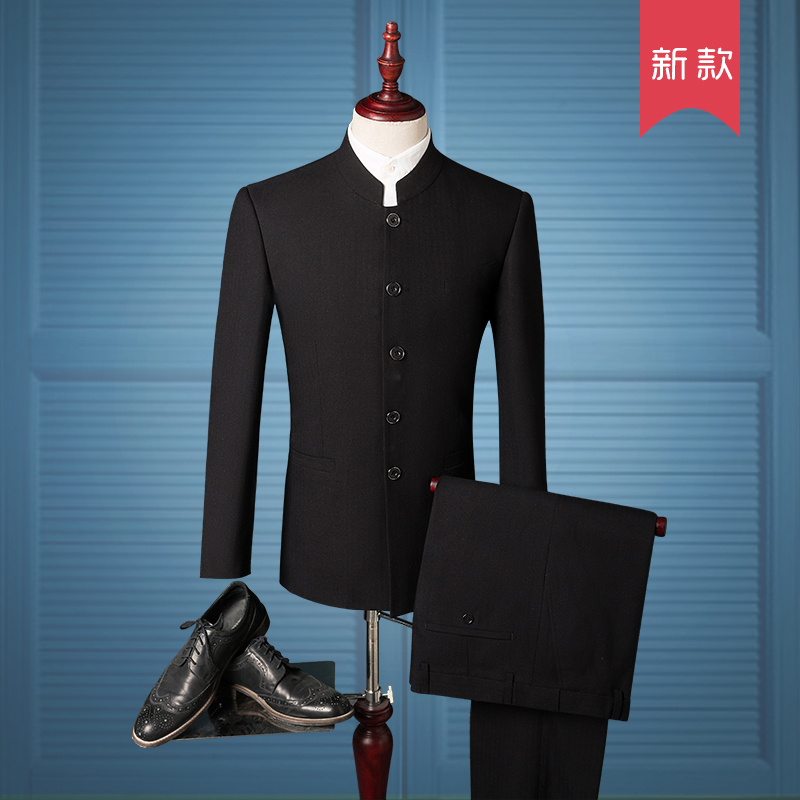 Chinese style fashion groom dress with style fashionable youth suit