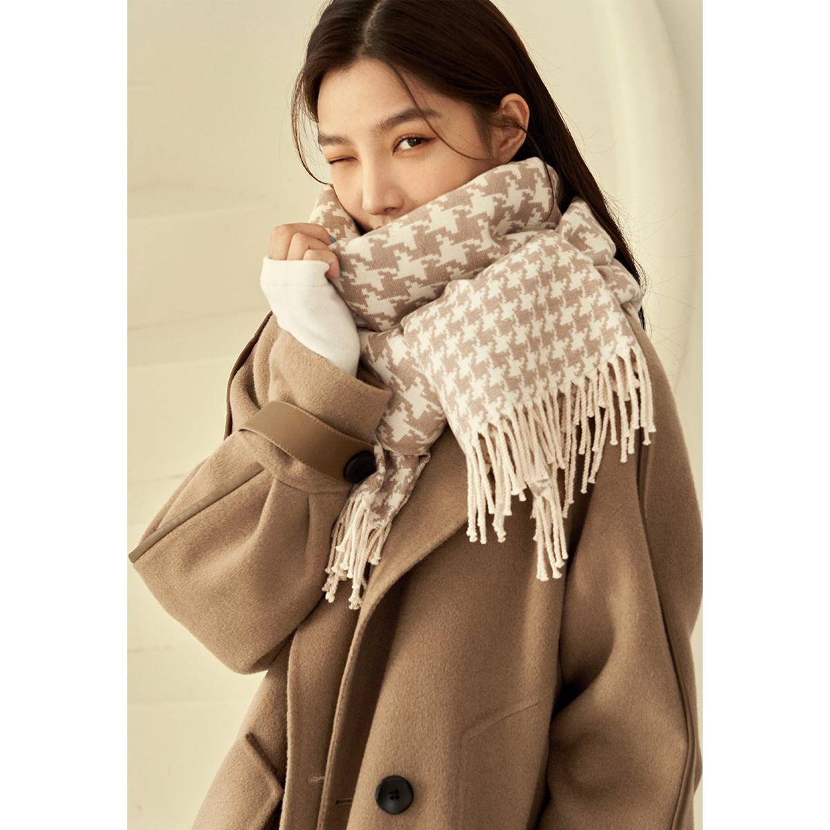 【千鸟格围巾】提花工艺千鸟格围巾 V213WJG110