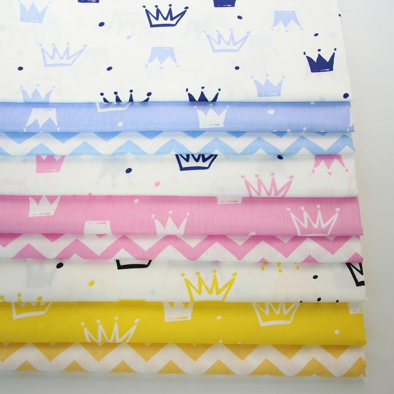Nordic crown cotton denim clothing curtain bed fabric processing promotion fabric