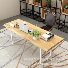 儿童家用书房办公原木电脑桌 简约单人实木学习桌写字桌椅 其他否