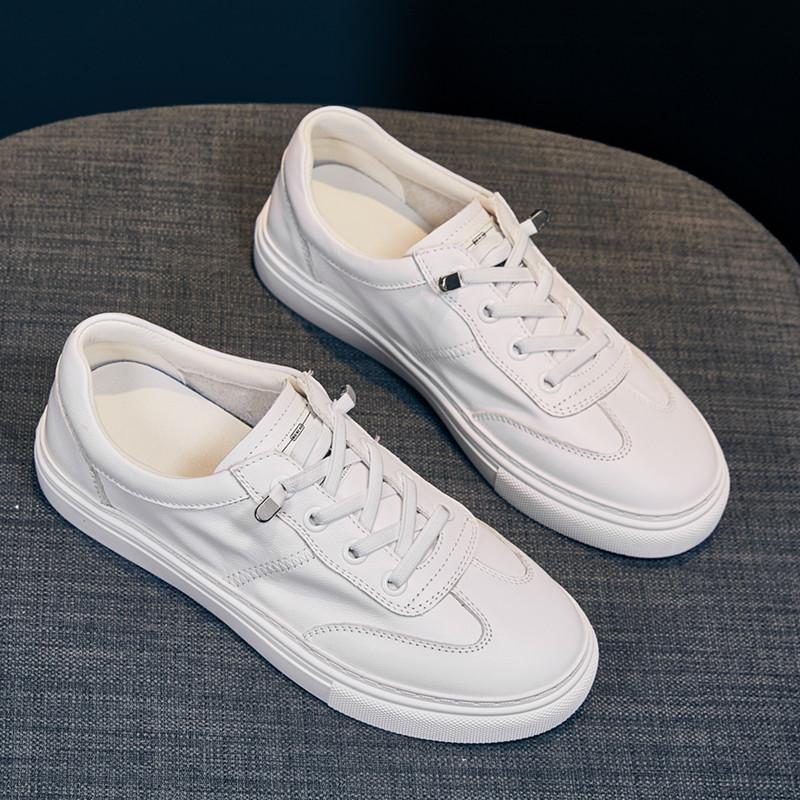 真皮小白鞋子女2021新款女鞋运动休闲百搭ins潮四季单鞋韩版板鞋