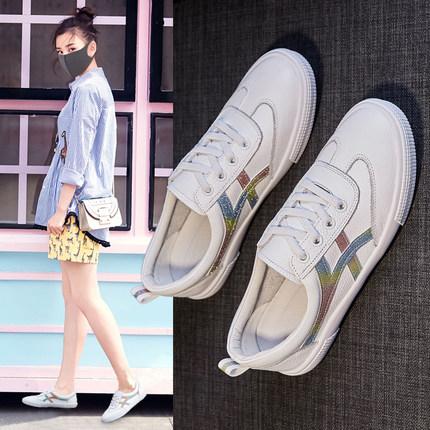 鞋子女秋单鞋 平底真皮图片