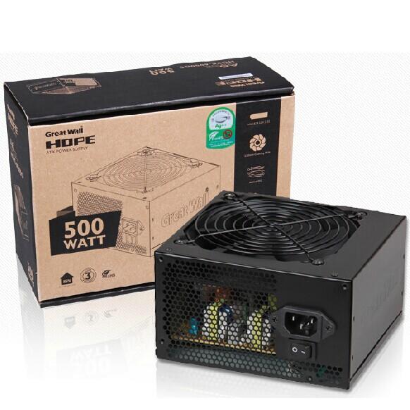 长城电源HOPE6000DS电脑电源台式机电源500W电源节能静音主机电源