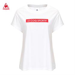 【19新品】乐卡克法国公鸡落肩款型圆领短袖T恤女CB-0160191