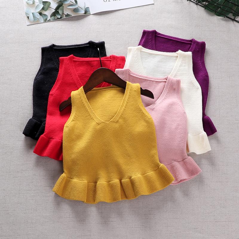 精灵女童婴儿毛衣宝宝秋装针织衫1-3岁马甲背心套头公主毛线衣薄