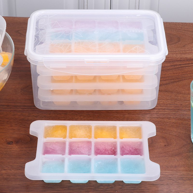 Parcel post frozen ice mold ice box with cover ice box ice box of household refrigerator ice box ice box for medium-sized ice