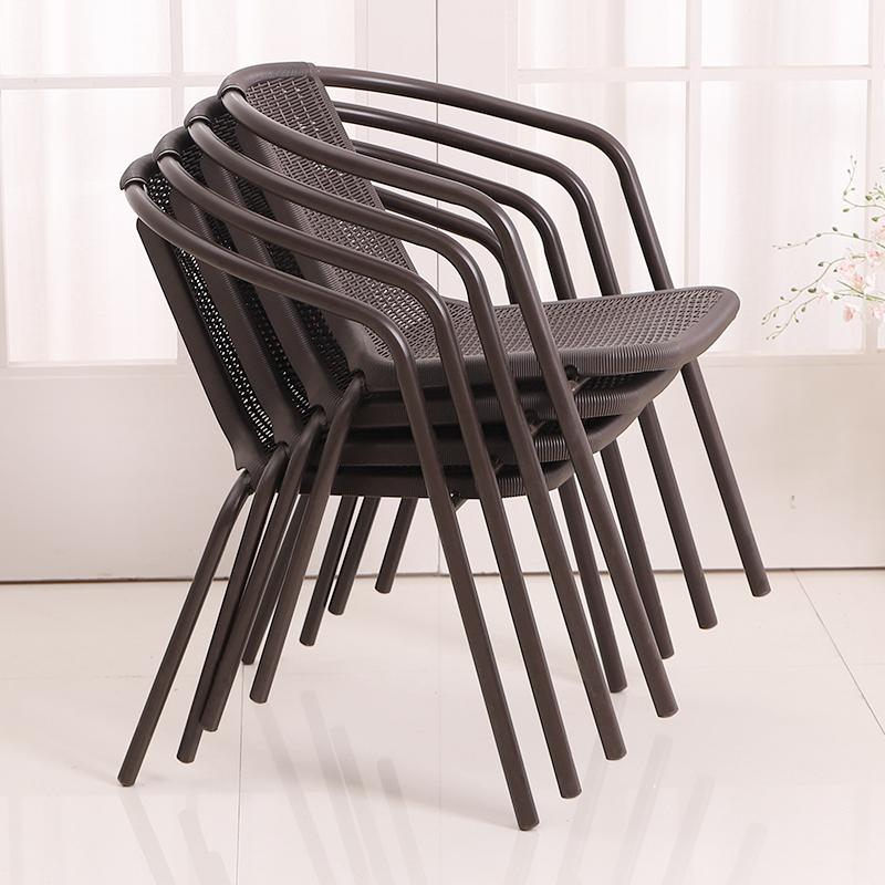 奶茶店休闲椅子家用单人围椅藤编椅