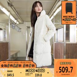 [聚]|ONLY新款简约纯色气质长款时尚休闲羽绒服女119312515