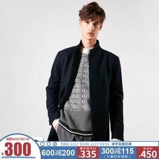 [聚]SELECTED思莱德新款男含羊毛中长款立领毛呢大衣418427562