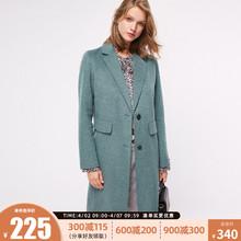 绫致ONLY春季气质双面呢含羊毛中长款风衣外套女11834S505
