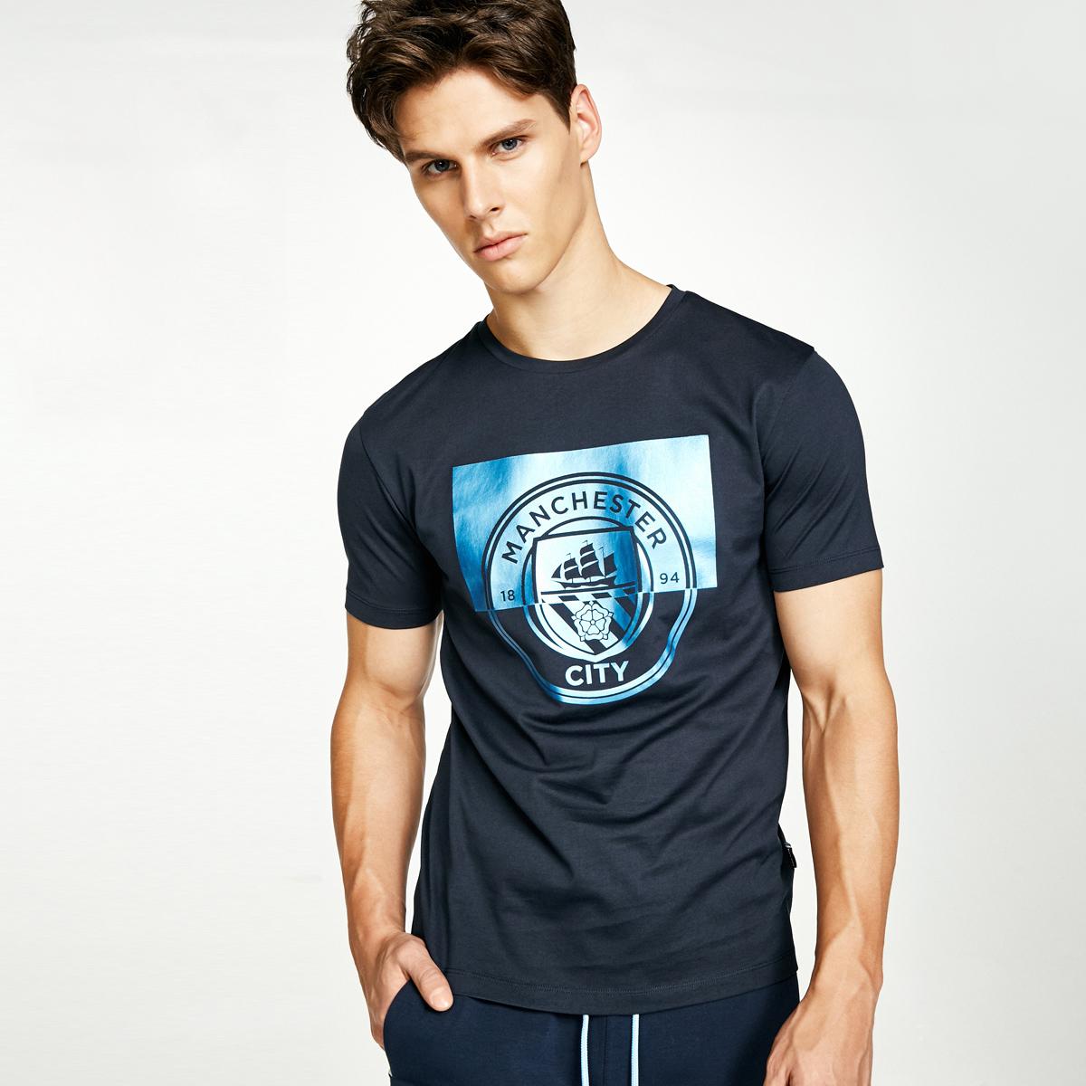 Jack Jones杰克琼斯足球俱乐部男装短袖T恤C 217301551
