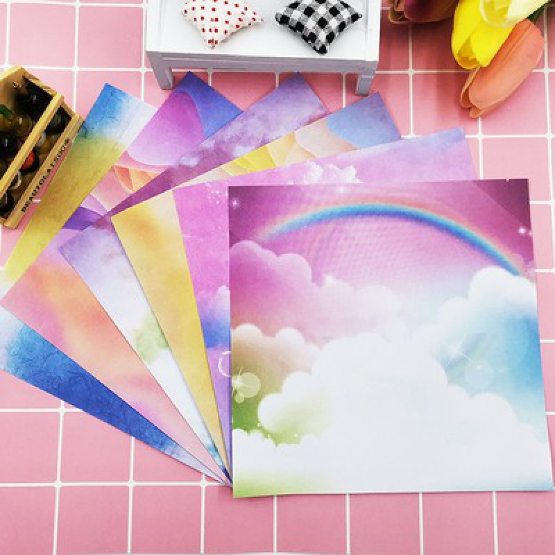 Origami hand-made color printing pattern card paper square, one side has a pattern of small fresh belt, good-looking, thin and beautiful