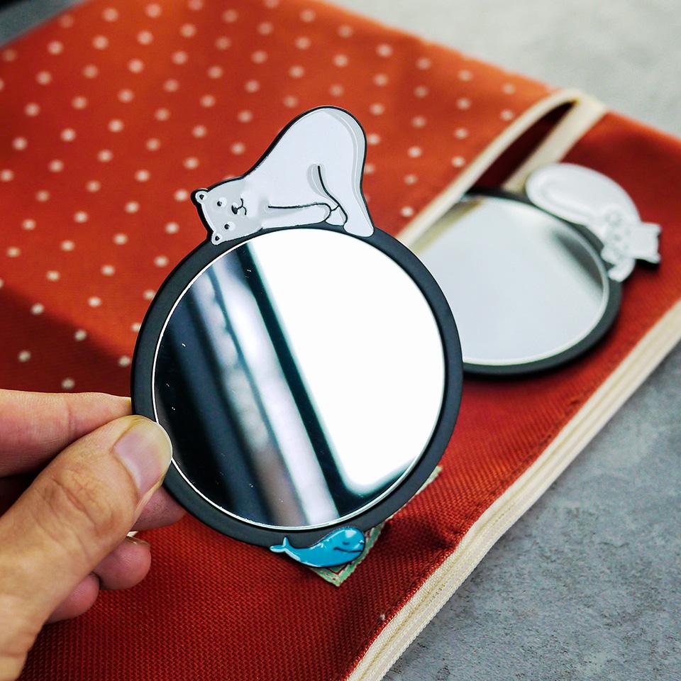 Белый панда микрофон портативный зеркало портативный мультики милый металл косметическое зеркало / белый сахар разное товары