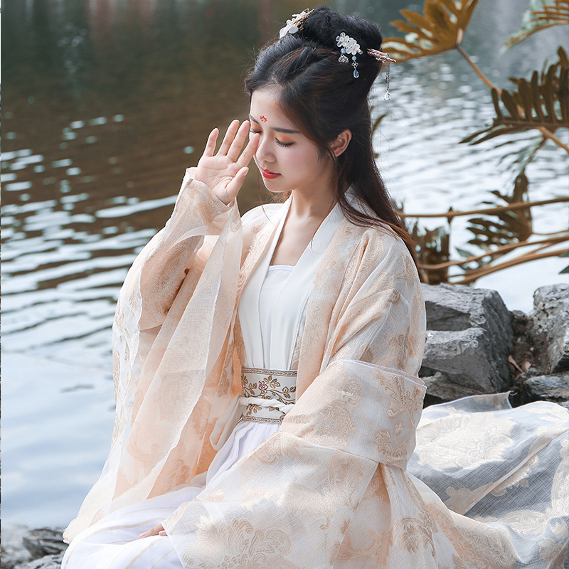 Improved ancient costume Hanfu Tang Fengxian women's clothing summer daily Chinese style Tang Dynasty costume photo studio