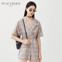 Shopping Mall Same Taiping Bird Women's Wear New Chequered Couplet Pants Leisure Shorts A2FB92409