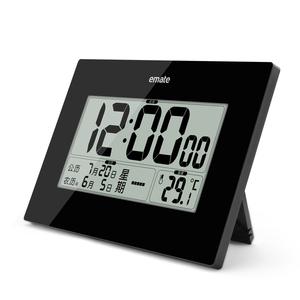 万年历数字闹钟 装电池电子时钟 温度计老人静音大屏农历可挂座钟