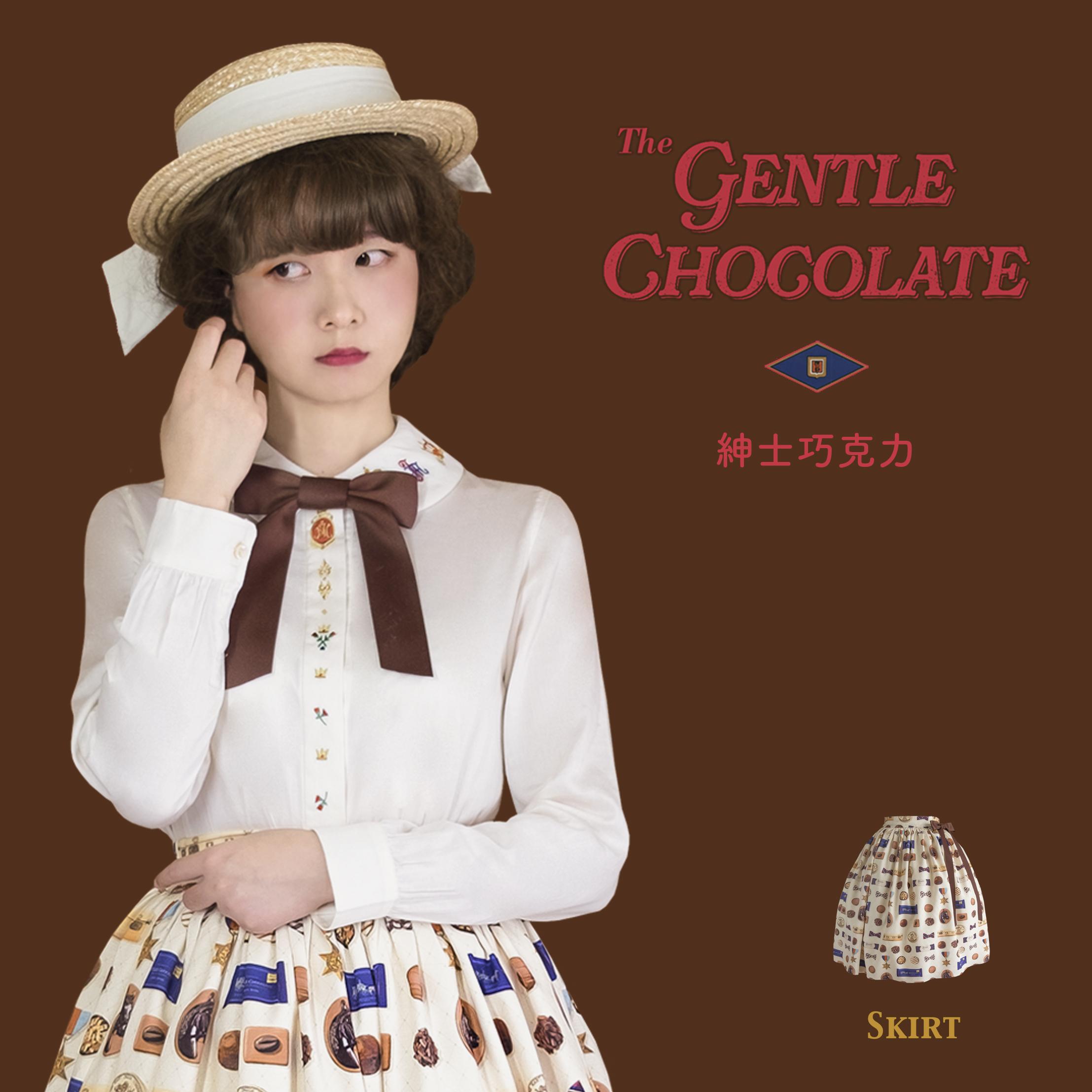 【スポット】himannaオリジナルデザイン洋装紳士チョコレートLolita Lolita LolitaハーフスカートSK
