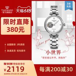 天王女表机械表时尚潮流钢带腕表女士手表生日礼物送女友51145