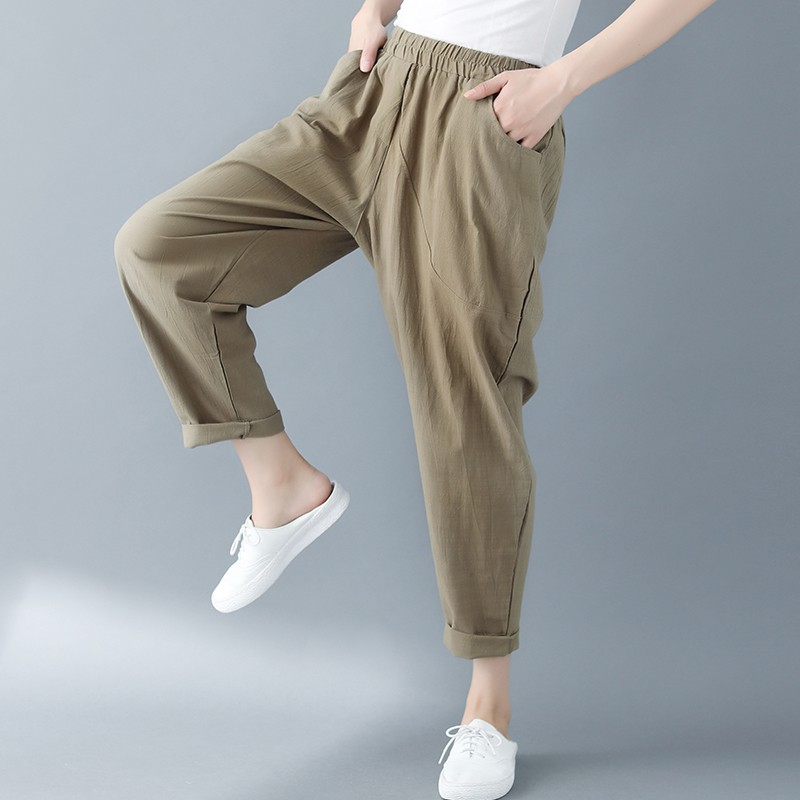 大码女装XXXL哈伦裤显瘦宽松休闲胖mm加肥加大120-150-200-250斤