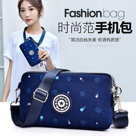 新款装手机包女斜挎迷你小包包横款韩版百搭帆布手拿包手腕零钱包