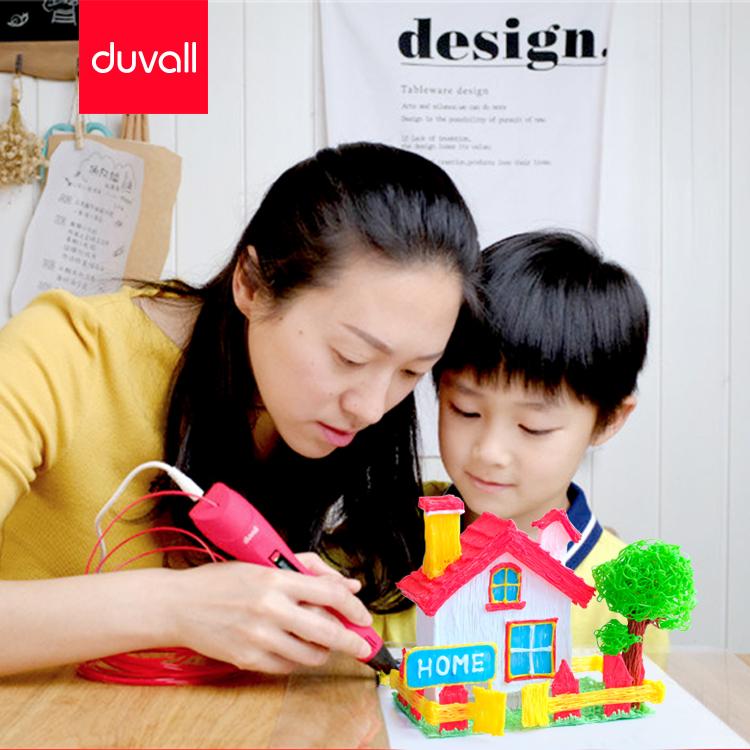 Duvall детские 3D-печать ручка стерео покраска ручка многофункциональная зарядка три D граффити ручка не низкая температура в подарок Уничтожает материал
