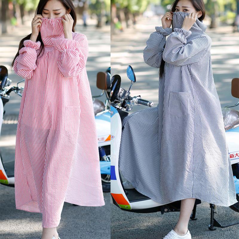【天天特价】骑车防晒衣女防尘防紫外线格子衬衣女上衣长袖开衫夏