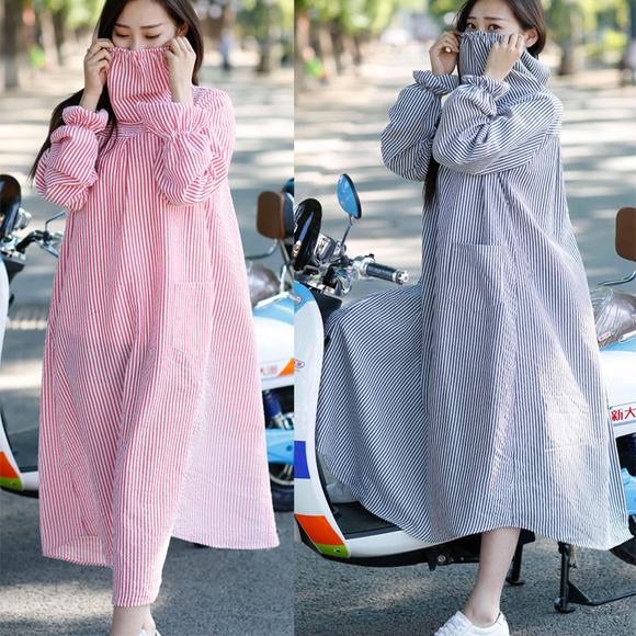 【天天特价】骑车防晒衣女防尘防紫外线格子衬衣女上衣长袖开衫