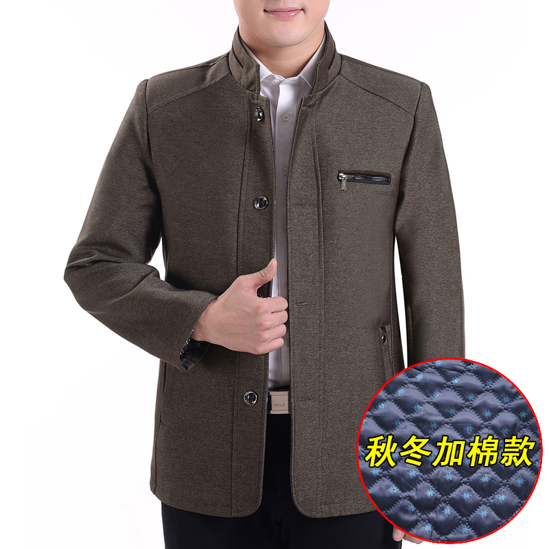 Every day special offer for middle-aged and elderly mens clothes autumn and winter style plus cotton thickened coat fathers winter thick jacket middle-aged mens thick