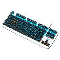 狼蛛3087青黑红茶轴87键小型键盘