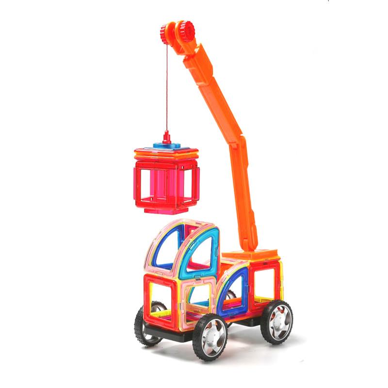 正品 科博99件磁力片百變提拉積木噠噠搭兒童益智玩具構建片