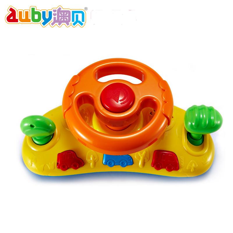 ~天貓超市~auby澳貝玩具 寶寶快樂方向盤 模擬駕駛 兒童玩具