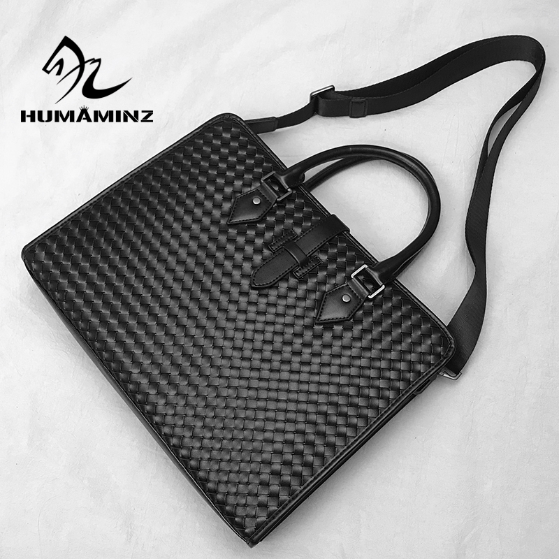 Mens leather briefcase business handbag business laptop bag cowhide Shoulder Bag Fashion messenger bag