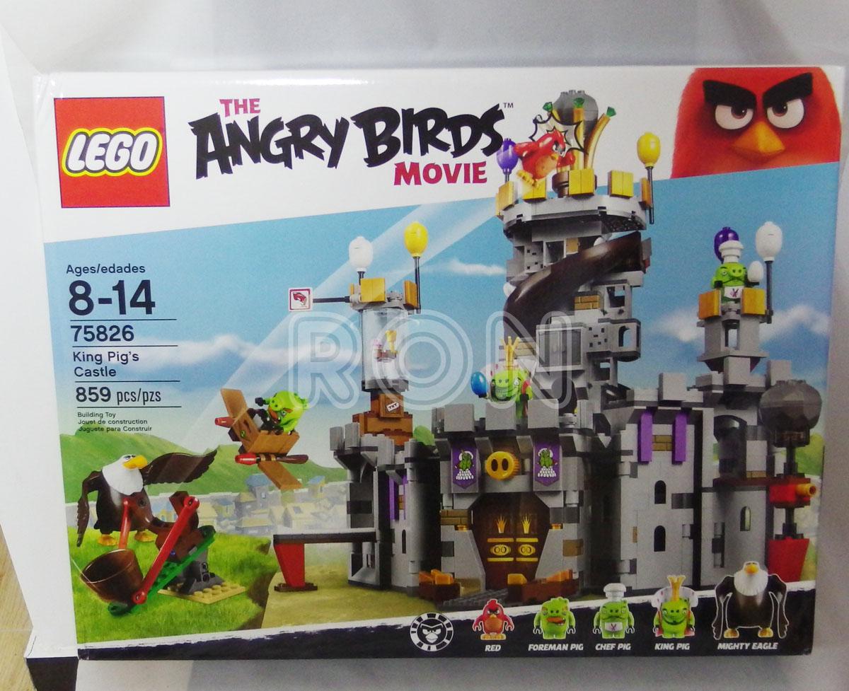 现货2016款正品 乐高 LEGO 75826 愤怒的小鸟 大电影 猪王城堡