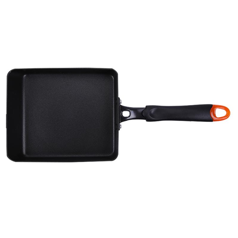 铝合金平底玉子烧烧锅长方形锅煎蛋锅日韩料理锅具牛排煎盘煎饼锅
