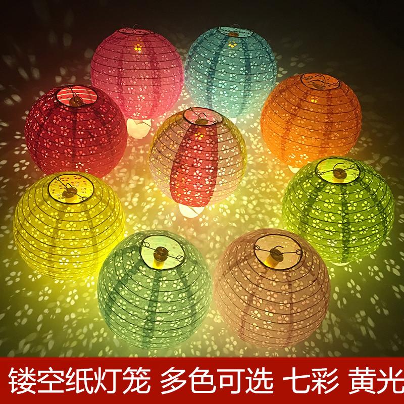 中秋節diy兒童手工中國傳統古風創意漢服手提道具投影鏤空紙燈籠