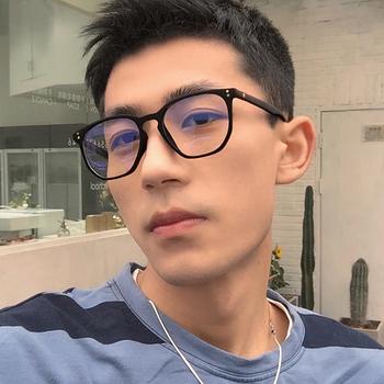 韩版tr90黑色超轻男士日系配眼镜架