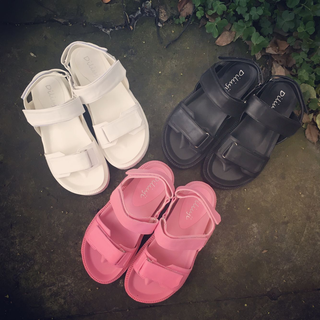 2016 новый летний квартира корейский мелочь на липучках рим толстая корка сандалии дикий в среде студент обувь женская волна