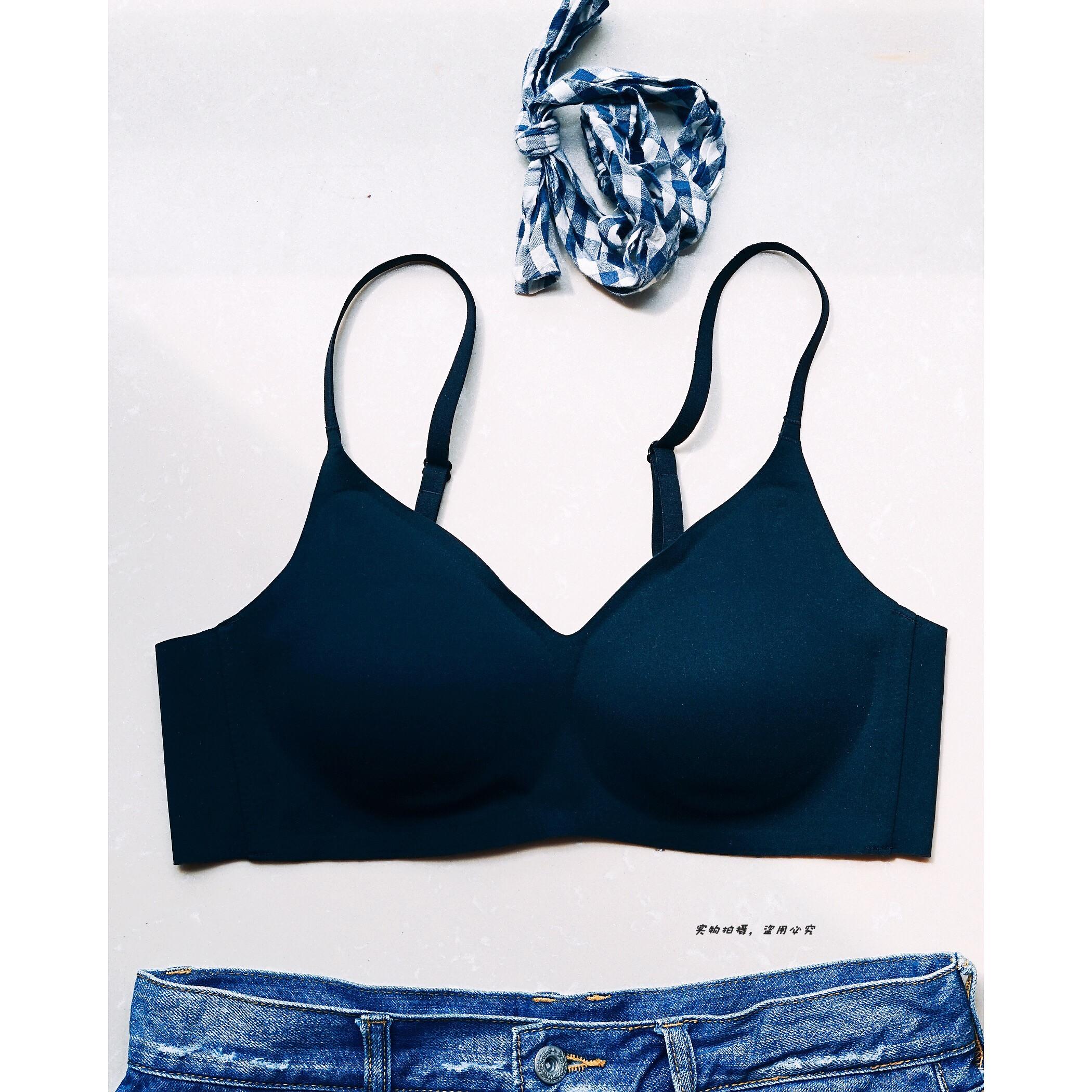 Summer new underwear girl bra gathered no steel ring shoulder belt adjustable bra no trace sleep student bra